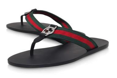 Gucci Web Thong Sandal