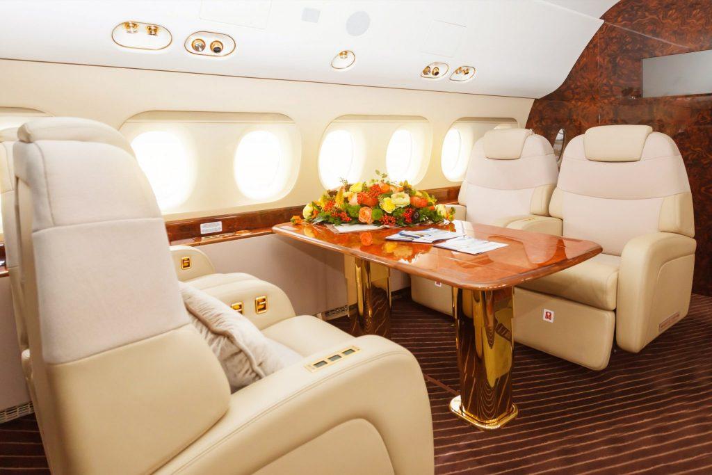 Private Jet Interior Discover