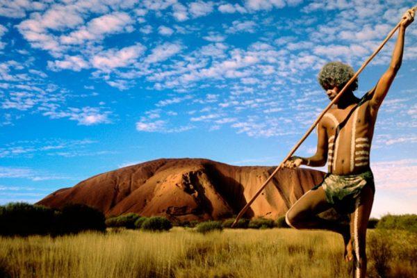 Aboriginal Warrior Uluru NT