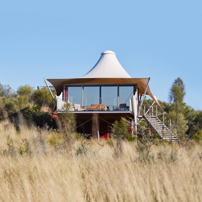 Ayers Rock Uluru Luxury Tent Exterior
