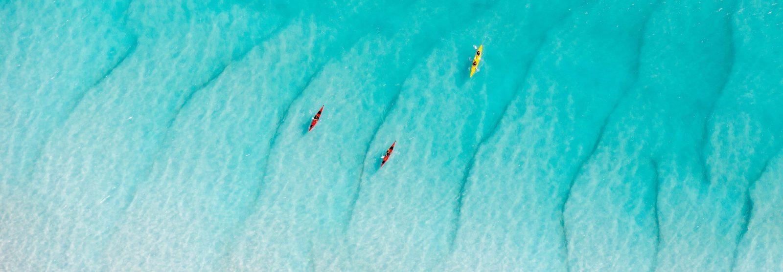 Kayaking at Whitehaven Beach, Whitsundays Islands, QLD
