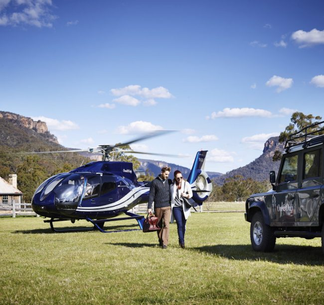 Wolgan Valley_Helicopter Arrival