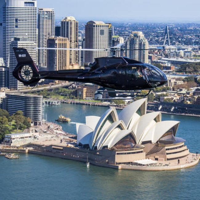 Helicopter Flight over Sydney Harbour