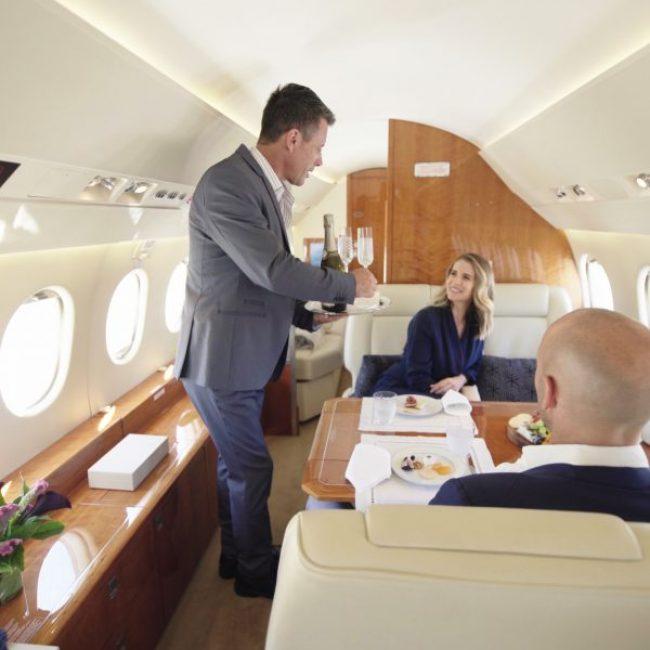 Jet Falcon 900XE Inflight Service