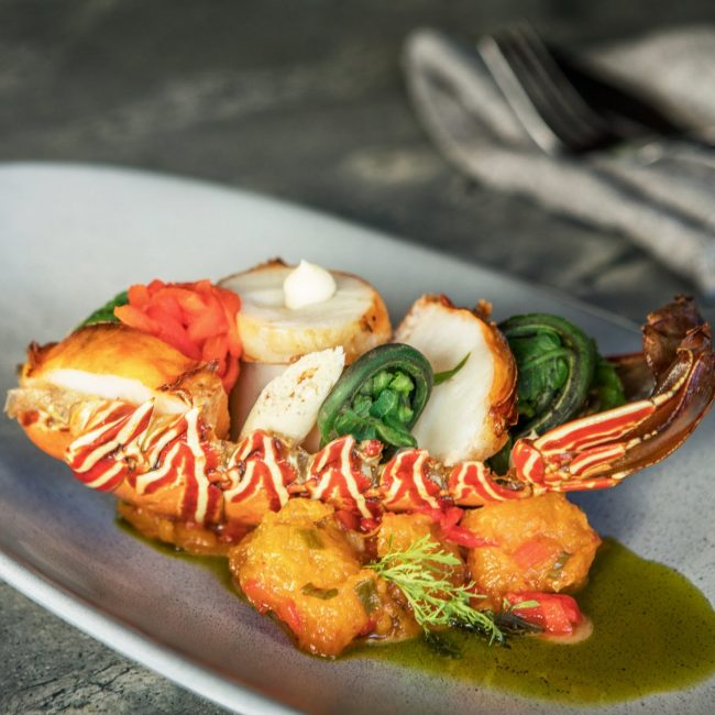 Chargrilled Lobster Curried Pumkin
