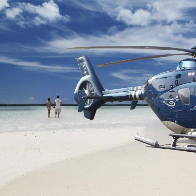Conrad Bora Bora Tahiti Nui Helicopter