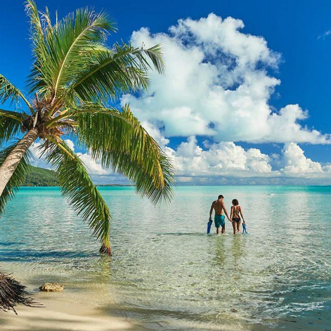 Couple on Beach Bora Bora
