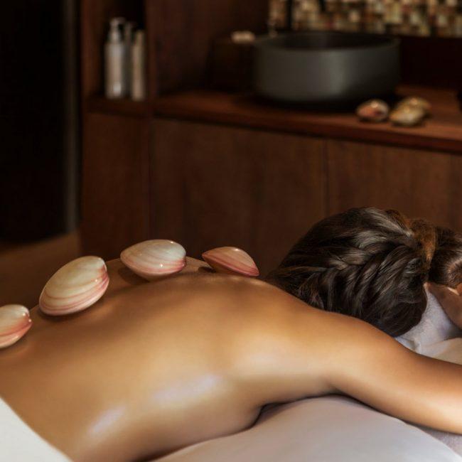 Heated Lava Shell Massage