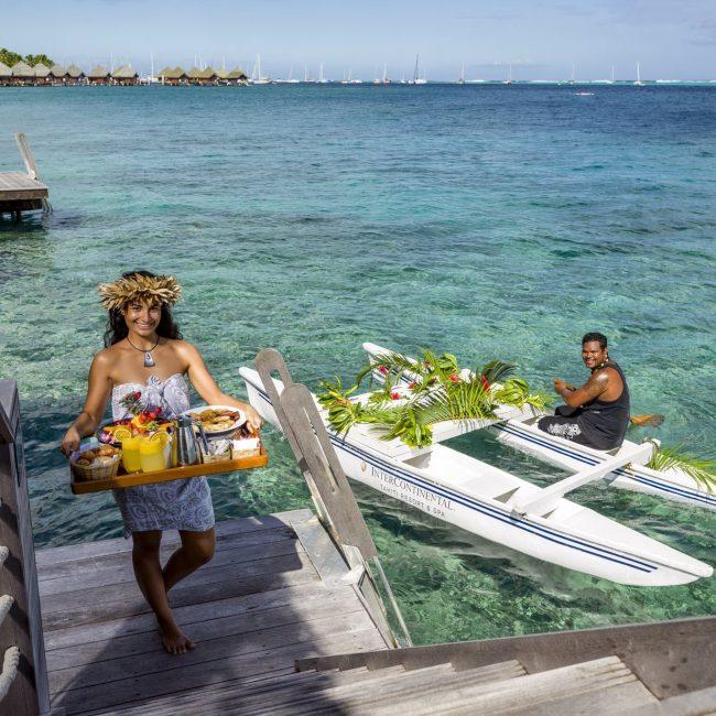 Intercontinental Tahiti Canoe Breakfast