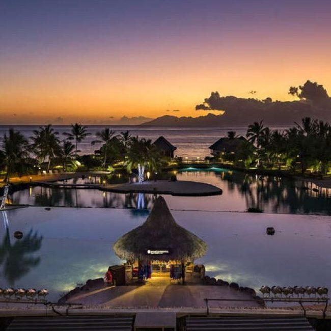 Intercontinental Tahiti Resort Sunset