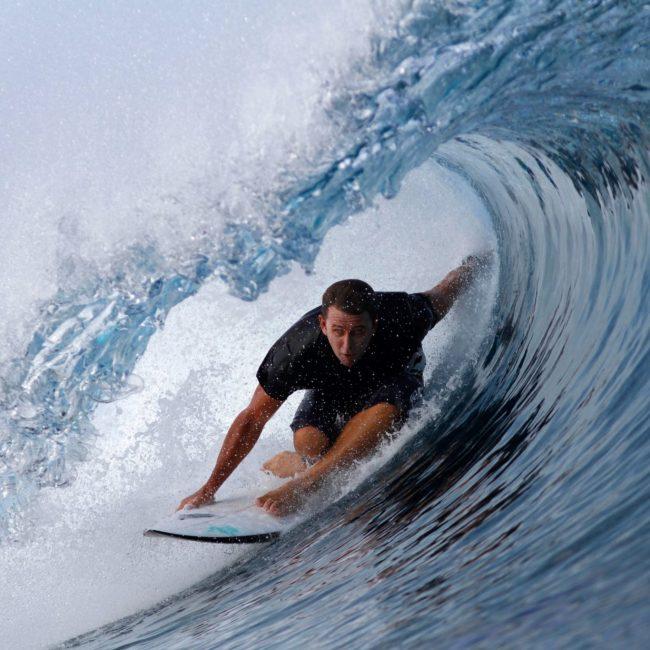Tropical Malolo Island Surfing