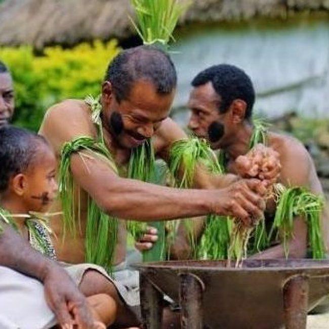 Fiji_Kava ceremony with natives