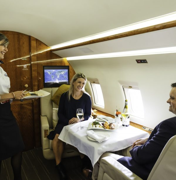 Private Jet Touring_Dinner Onboard